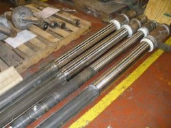 mandrels prepared for coating